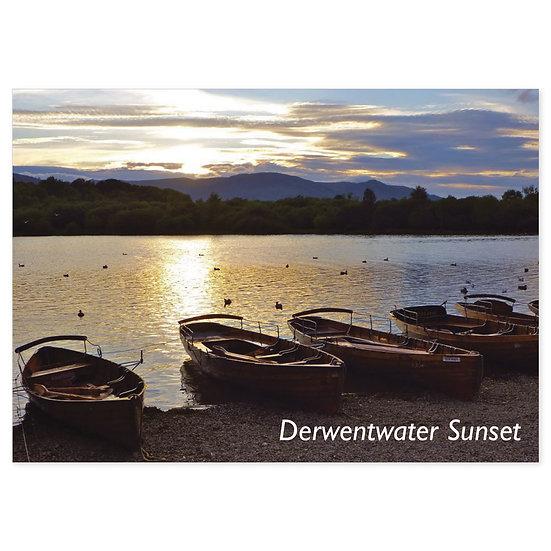 Derwentwater Sunset - Sold in pack (100 postcards)