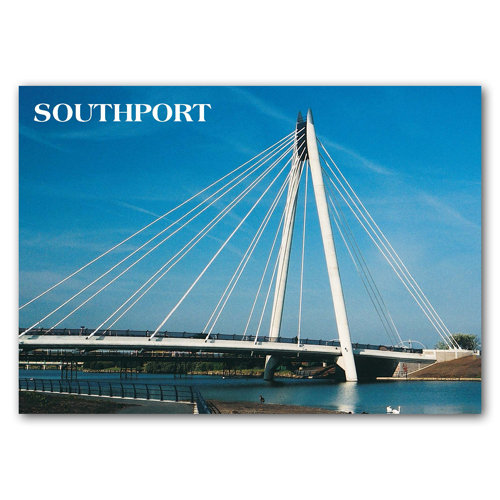 Southport Marine Lake Bridge - Sold in pack (100 postcards)