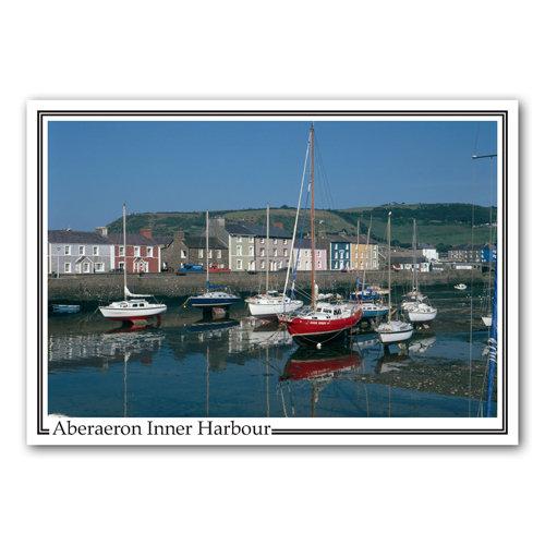 Aberaeron Inner Harbour - Sold in pack (100 postcards)