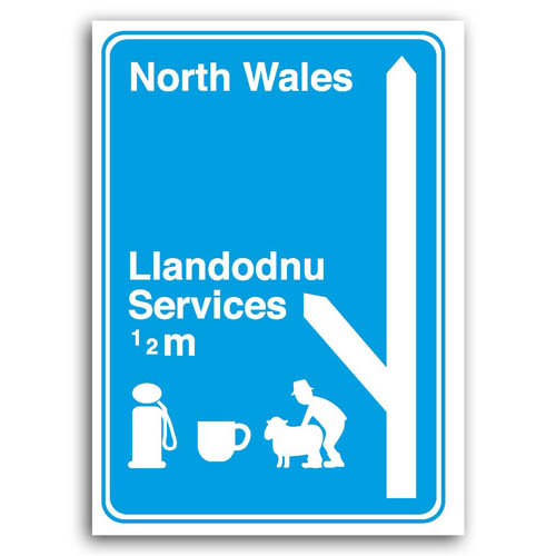 Road Signs - Welsh Services - Sold in pack (100 postcards)