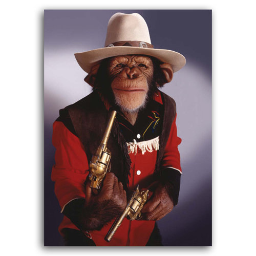 Animal Humour - Sheriff Chimp - Sold in pack (100 postcards)