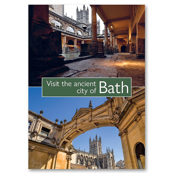 Bath, Visit the City, 2 view composite - Sold in pack (100 postcards)