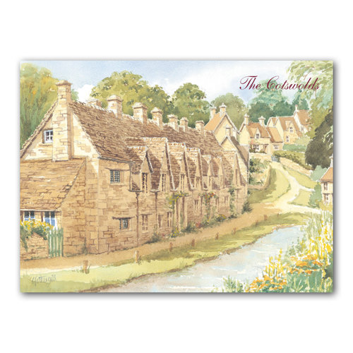 Bibury Watercolour - Sold in pack (100 postcards)