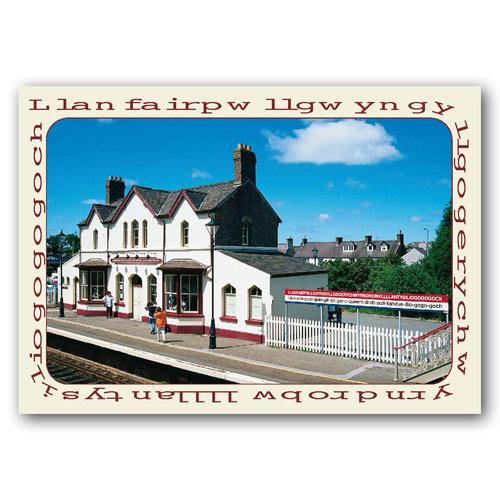 Llanfair P G - Sold in pack (100 postcards)