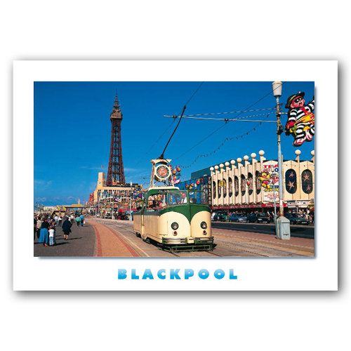 Blackpool Promenade - Sold in pack (100 postcards)
