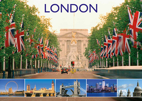 London 6 View Composite - Sold in pack (100 postcards)