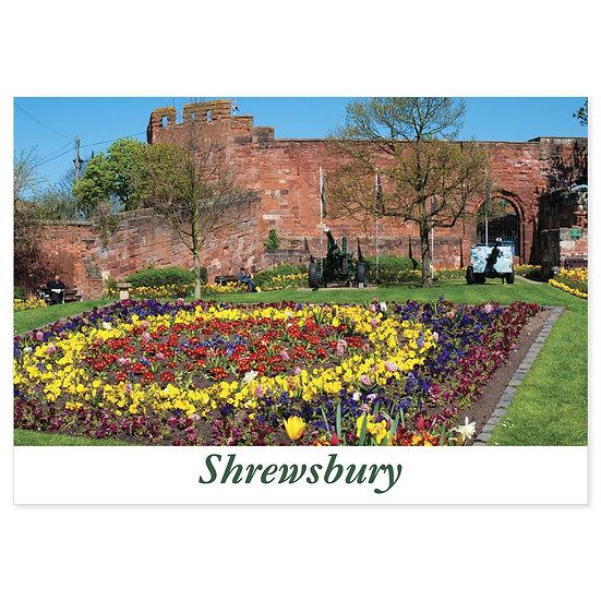 Shrewsbury Garden - Sold in pack (100 postcards)