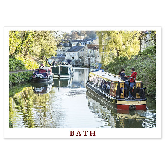 Bath Barges - Sold in pack (100 postcards)
