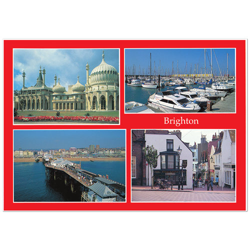 Brighton 4 Comp - Sold in pack (100 postcards)