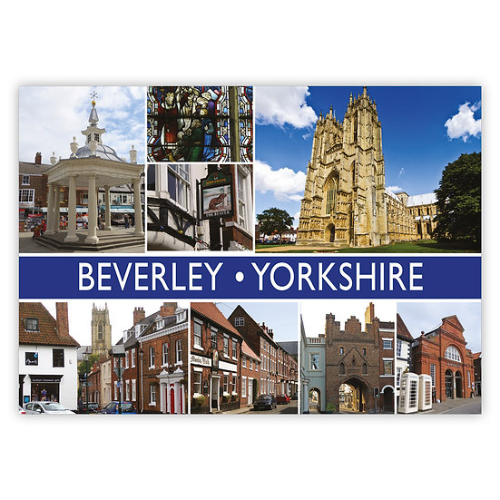 Beverley 8 View Comp - Sold in pack (100 postcards)