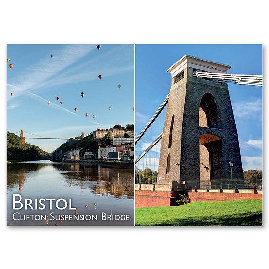 Bristol, Clifton Suspension Bridge - Sold in pack (100 postcards)