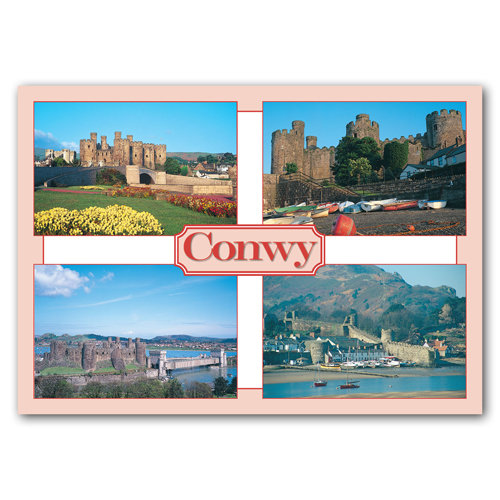 Conwy Castle & Estuary - Sold in pack (100 postcards)