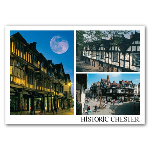 Chester Medieval 3 View Comp - Sold in pack (100 postcards)