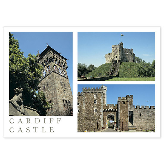 Cardiff Castle - Sold in pack (100 postcards)