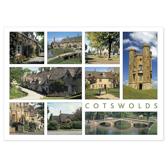 Cotswolds 9 View Comp - Sold in pack (100 postcards)