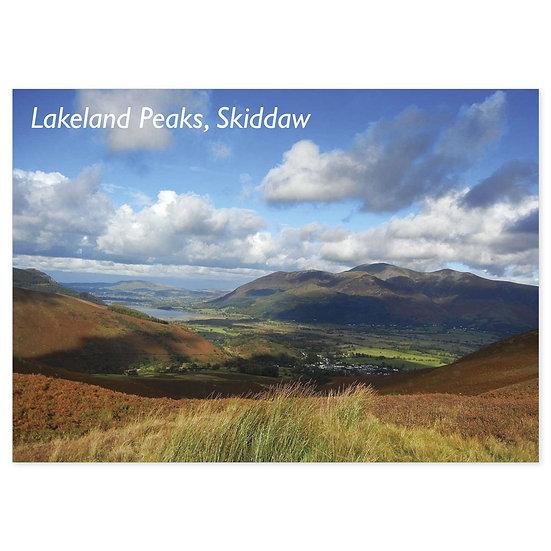 Lakeland Peaks, Skiddaw - Sold in pack (100 postcards)
