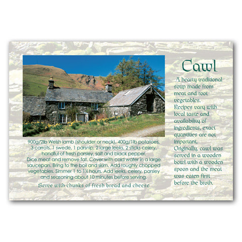 Wales Recipe Card Cawl - Sold in pack (100 postcards)