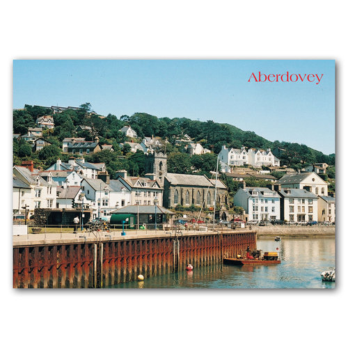 Aberdovey Church & Waterfront - Sold in pack (100 postcards)