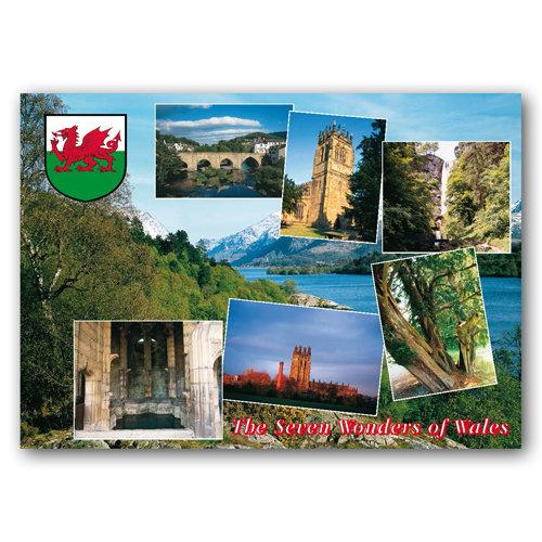 Wales Seven Wonders of - Sold in pack (100 postcards)