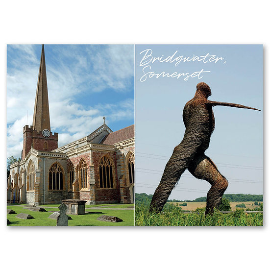 Bridgewater, St. Mary's Church and The Willow Man - Sold in pack (100 postcards)