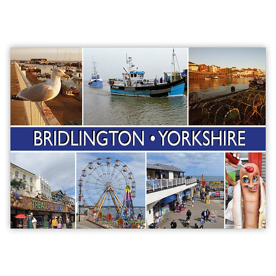 Bridlington 7 View Comp - Sold in pack (100 postcards)