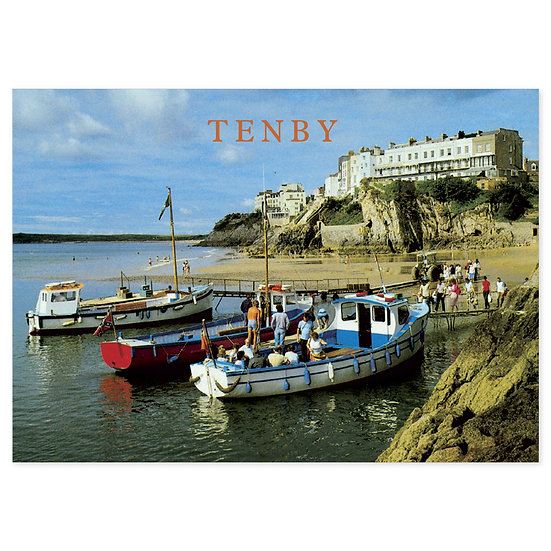 Tenby Castle Beach - Sold in pack (100 postcards)