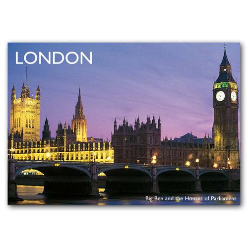 London Big Ben - Sold in pack (100 postcards)