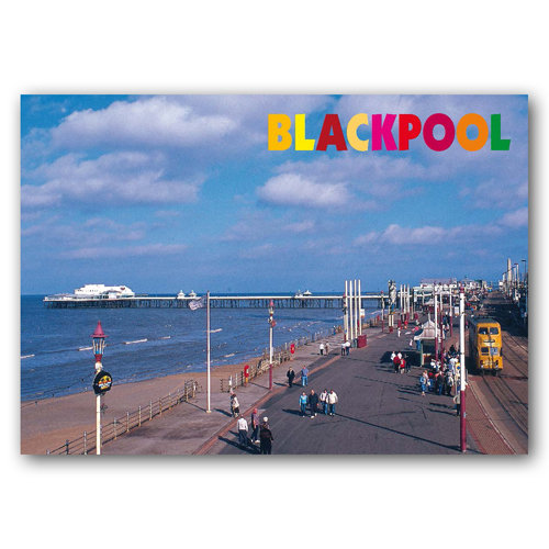 Blackpool Prom and Nth Pier - Sold in pack (100 postcards)