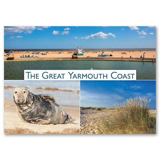 Great Yarmouth Coast - Sold in pack (100 postcards)
