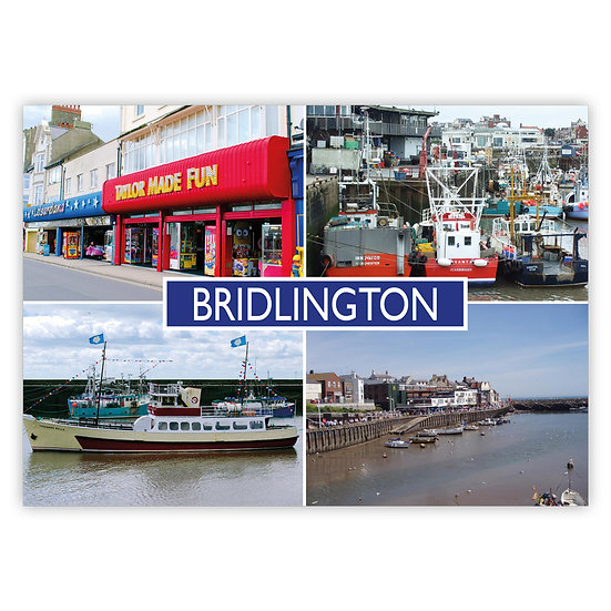 Bridlington 4 View Comp - Sold in pack (100 postcards)
