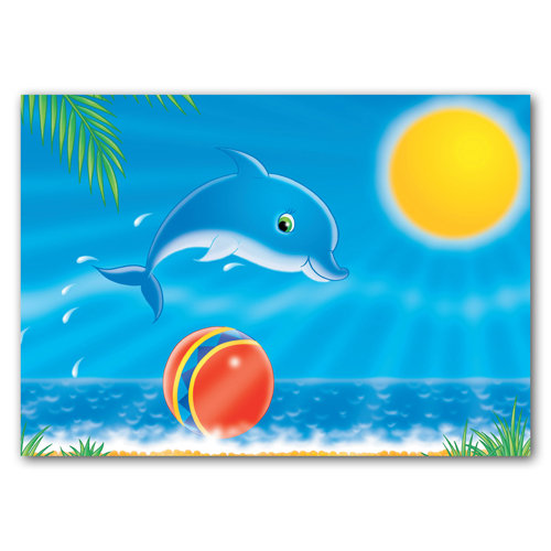 Seaside Pals - Dolphin - Sold in pack (100 postcards)