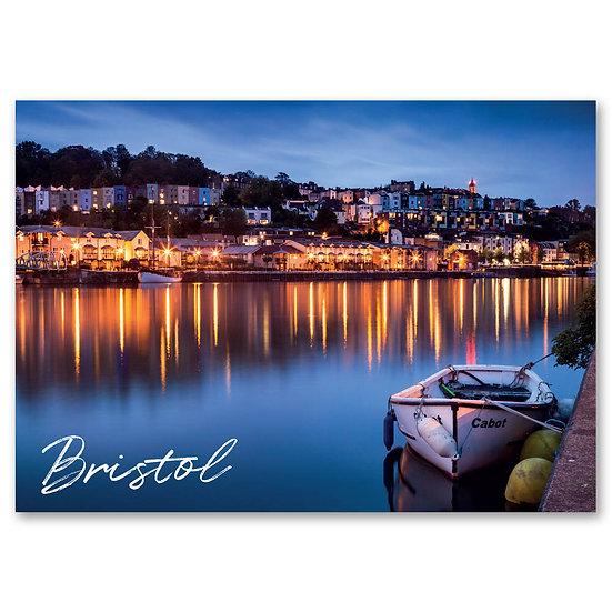 Bristol, Hotwells at dusk - Sold in pack (100 postcards)