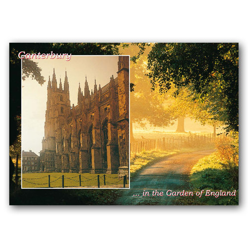 Canterbury In The Garden Of England - Sold in pack (100 postcards)
