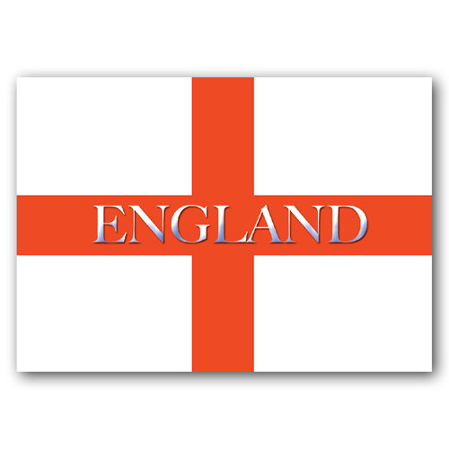 British England Text Flag - Sold in pack (100 postcards)
