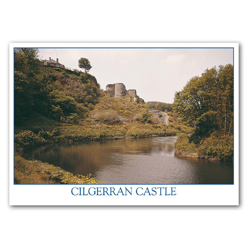 Cilgerran Castle & R Teifi - Sold in pack (100 postcards)