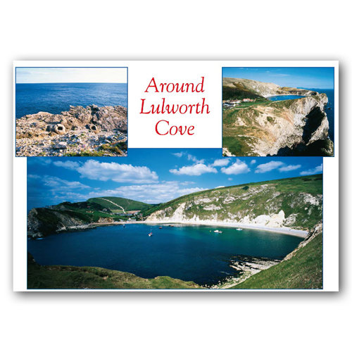 Lulworth Cove Comp - Sold in pack (100 postcards)