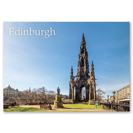 Edinburgh, Scott Monument Princes St Gardens East - Sold in pack (100 postcards)