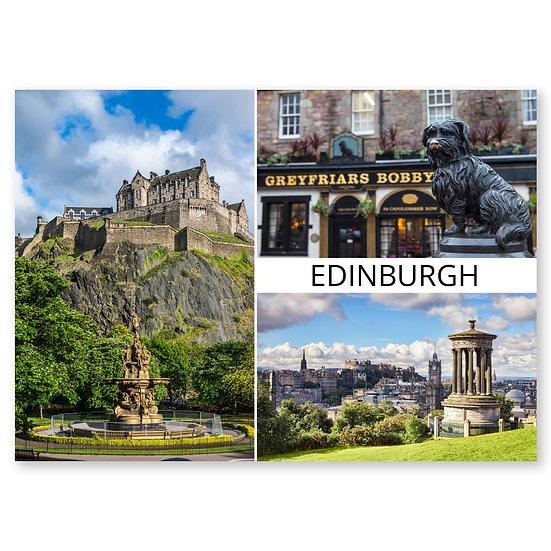 Edinburgh Scenes 3 composite - Sold in pack (100 postcards)