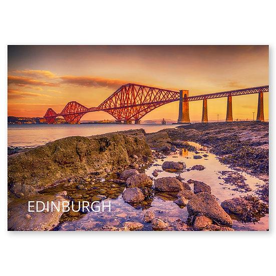 Edinburgh, Forth Bridge - Sold in pack (100 postcards)