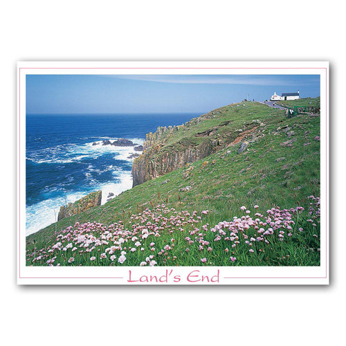 Cornwall Lands End - Sold in pack (100 postcards)