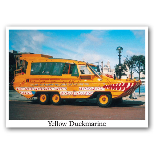 Liverpool Yellow Duckmarine - Sold in pack (100 postcards)