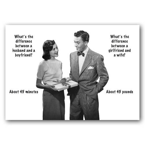 Retro - Husband Wife - Sold in pack (100 postcards)