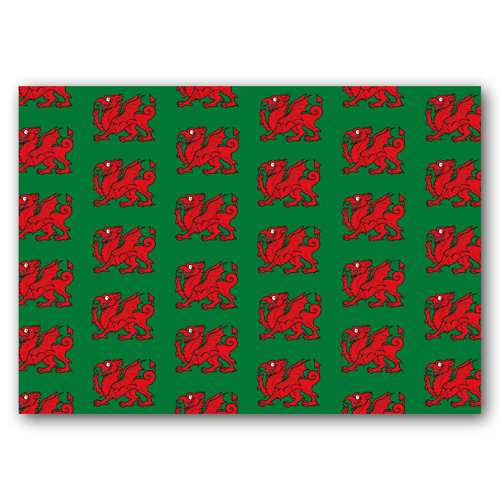 Wales Dragon - Sold in pack (100 postcards)