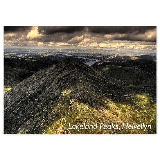 Lakeland Peaks, Helvellyn - Sold in pack (100 postcards)