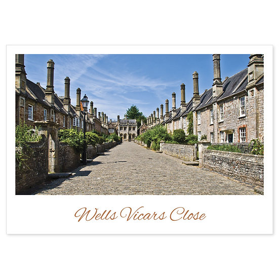 Wells Vicars Close - Sold in pack (100 postcards)