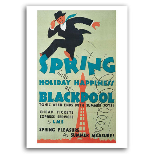 Blackpool - Travel by Train - Sold in pack (100 postcards)