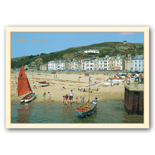 Aberdovey Beach - Sold in pack (100 postcards)
