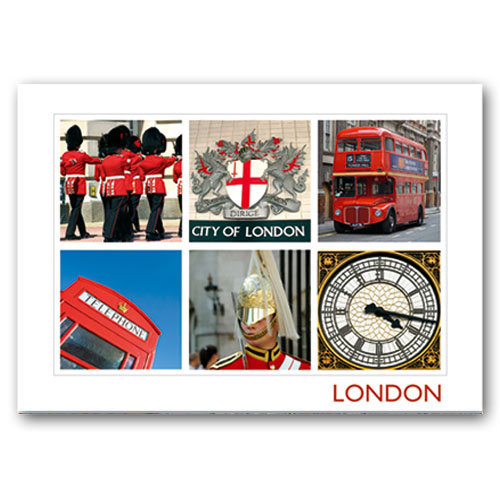 London Composite - Sold in pack (100 postcards)