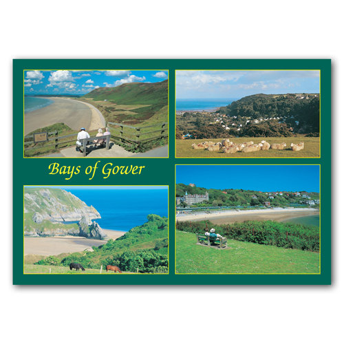 Gower Bays of Comp - Sold in pack (100 postcards)
