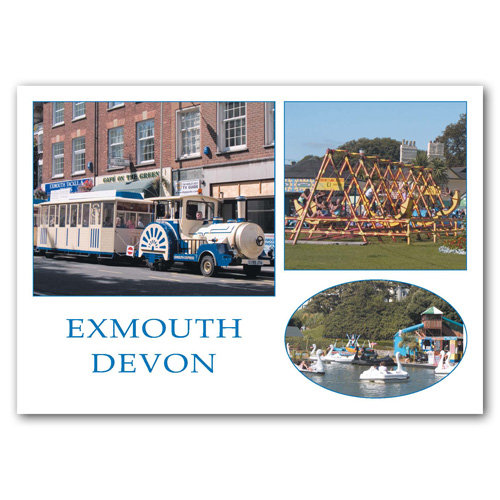 Exmouth - Three View Comp - Sold in pack (100 postcards)